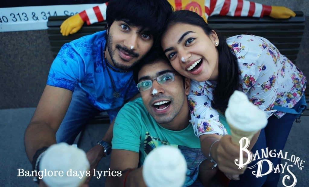 bangalore days lyrics