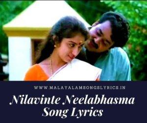 Nilavinte Neelabhasma Song Lyrics